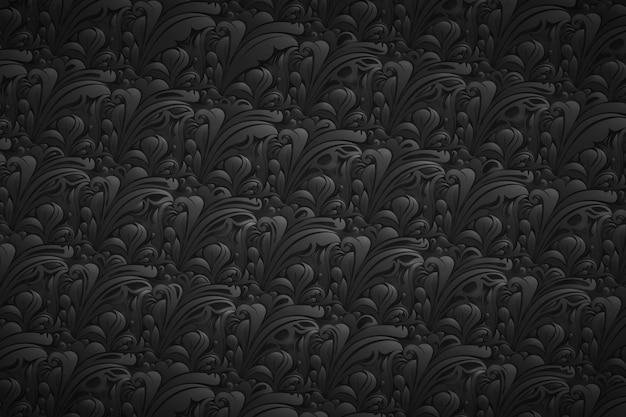Bloemen abstracte sierachtergrond Gratis Vector