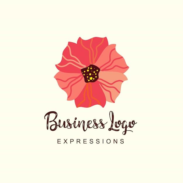 Bloemen bedrijfslogo Gratis Vector