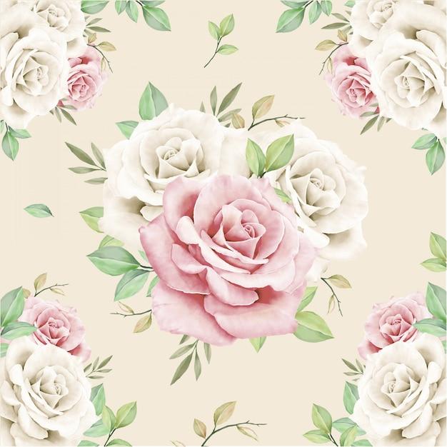 Bloemen boeket naadloos patroon Premium Vector