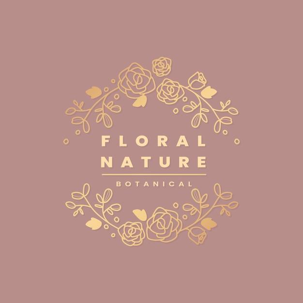 Bloemen botanisch frame Gratis Vector