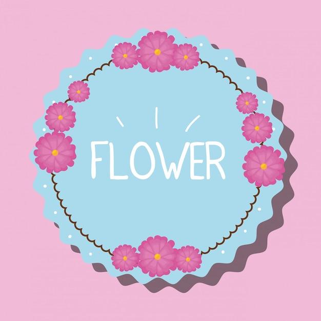 Bloemen embleem illustratie Gratis Vector