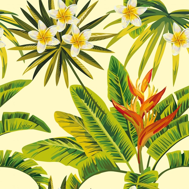 Bloemen en planten Premium Vector