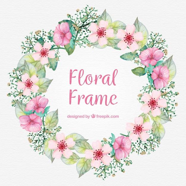 Bloemen frame achtergrond vector gratis download - Cornici foto design ...