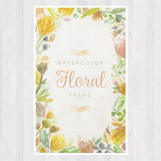 Bloemen frame ontwerp Gratis Vector