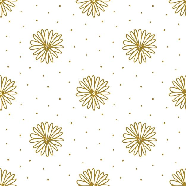 Bloemen hand getrokken doodle naadloos patroon Premium Vector