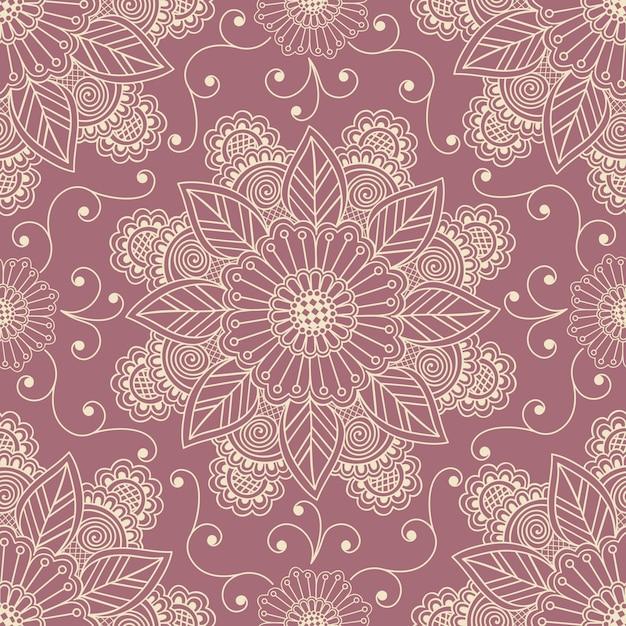 Bloemen naadloos patroon Gratis Vector