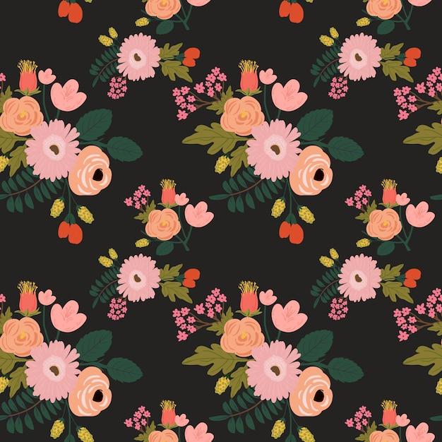 Bloemen naadloos patroon Premium Vector