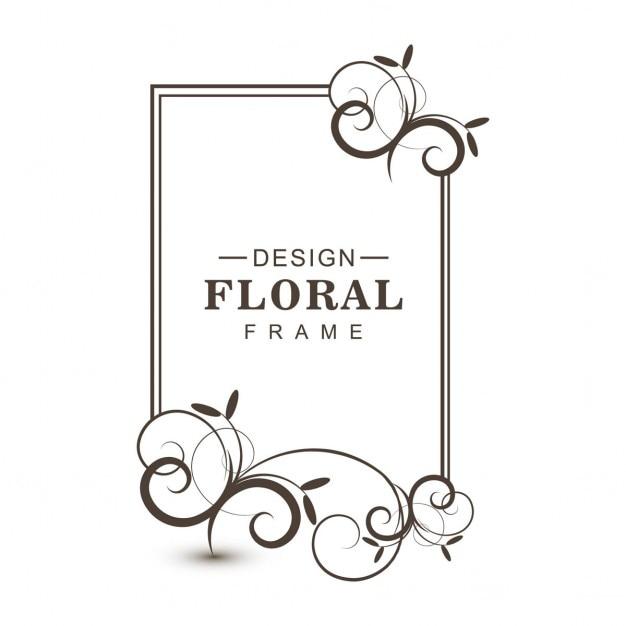 Bloemen ontwerp omlijsting Gratis Vector