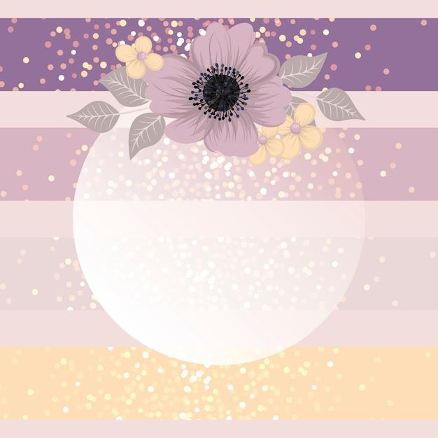 Bloemen wenskaartsjabloon. Premium Vector