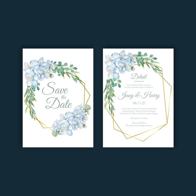 Bloemen wieden kaartenset Gratis Vector