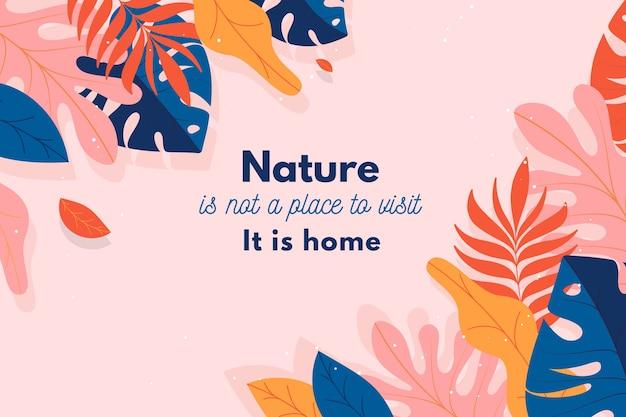 Bloemenachtergrond met inspirerende citaten Gratis Vector