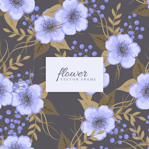 Bloemenboeket met bloemen en bladeren Gratis Vector