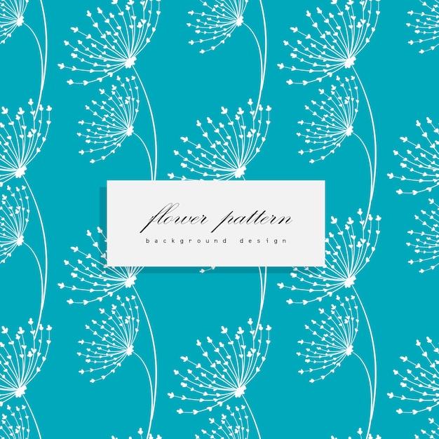 Bloemenboeket vectorpatroon met bloemen en bladeren Gratis Vector