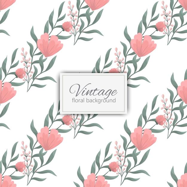 Bloemenboeketpatroon met bloemen en bladeren Gratis Vector