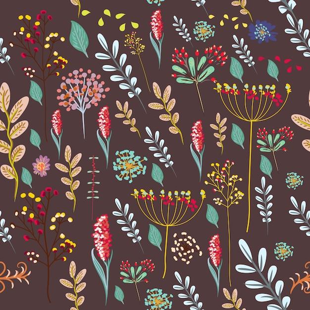 Bloemengroetkaart goede vibes met kleurrijke pastelkleurbloemen Gratis Vector