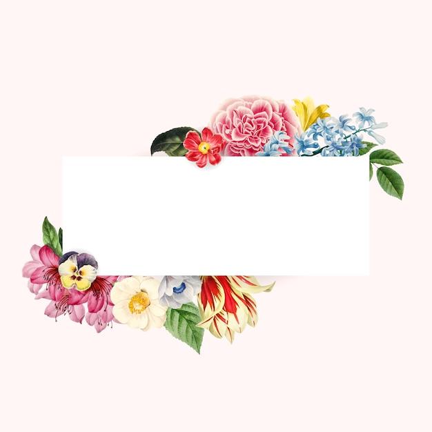 Bloemenhuwelijksuitnodiging mockup vector Gratis Vector