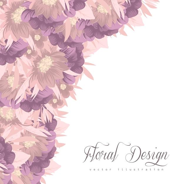 Bloemenkader met kleurrijke bloem Gratis Vector