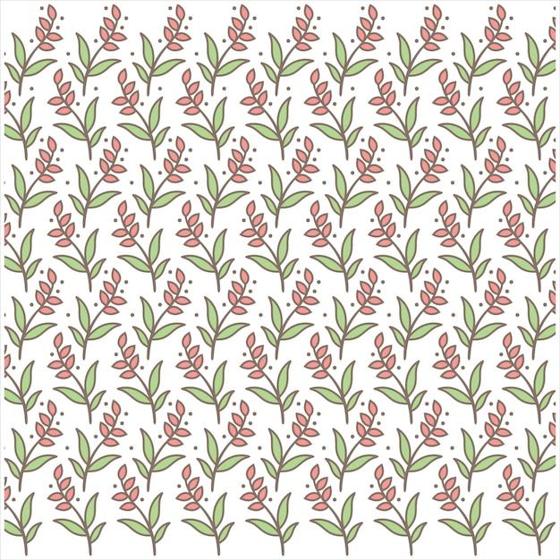 Bloemenpatroon één logo-vector Premium Vector