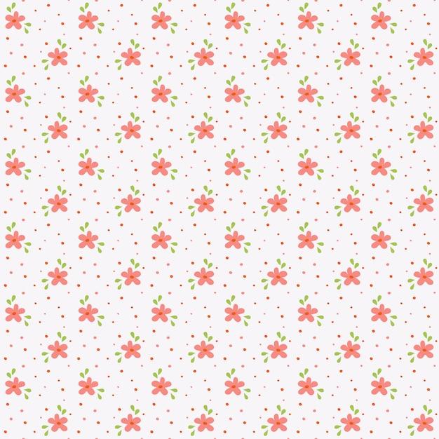 Bloemenpatroon. naadloze achtergrond met kleine hand getrokken bloemen. illustratie. Premium Vector