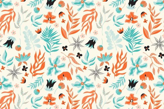 Bloemenpatroon pack thema Gratis Vector