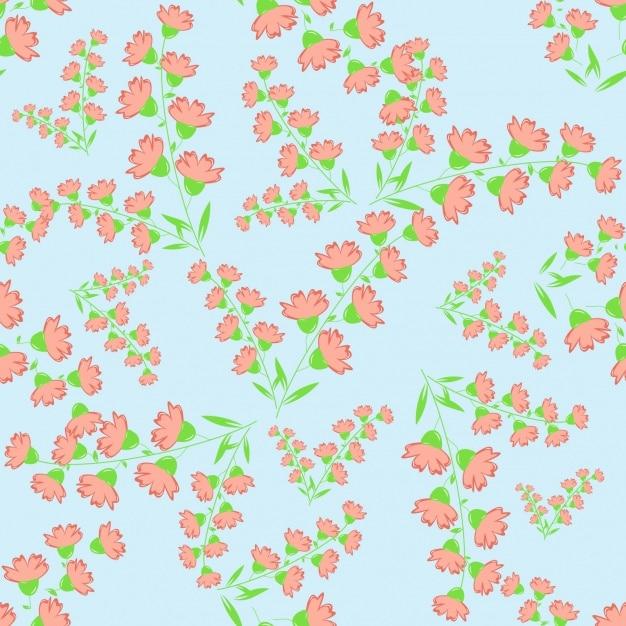 Bloemenpatroonontwerp Gratis Vector