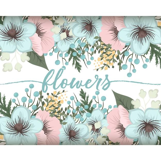 Bloemensamenstelling met kleurrijke bloem. Gratis Vector
