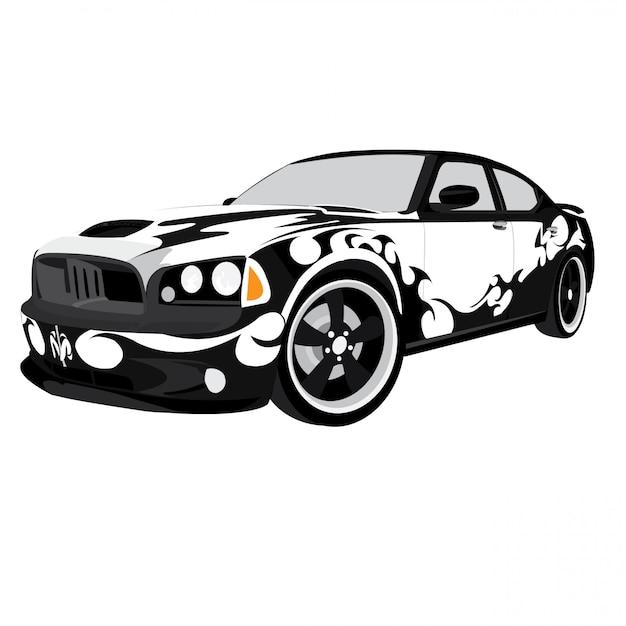 Bloemmotief vectorillustratie geïsoleerd op een witte achtergrond Premium Vector