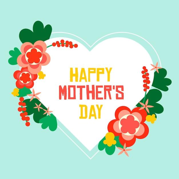Bloemmotief voor moederdag Gratis Vector
