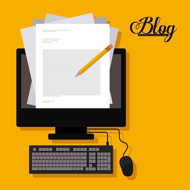 Blog ontwerp Premium Vector