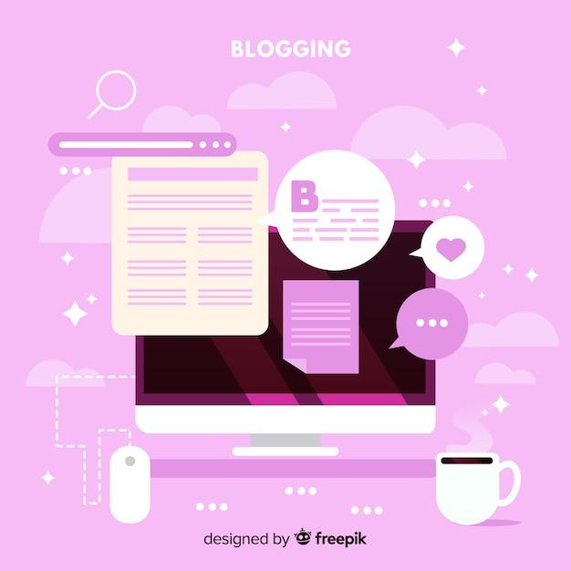 Blog sociale influencer achtergrond Gratis Vector
