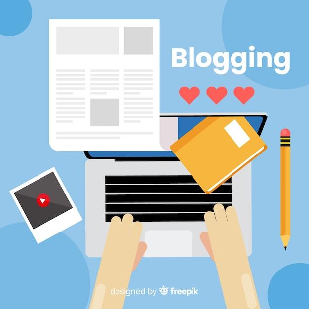 Bloggen concept Gratis Vector
