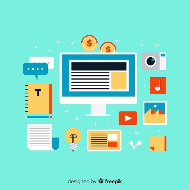 Bloggen Gratis Vector