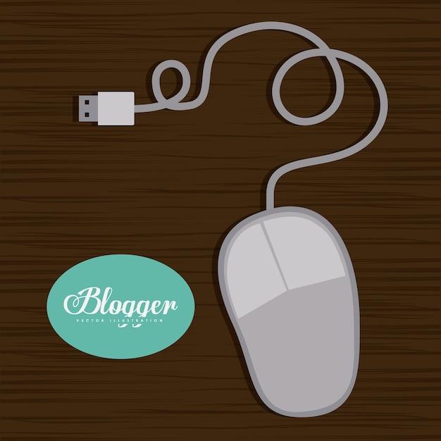 Blogger-ontwerp Premium Vector