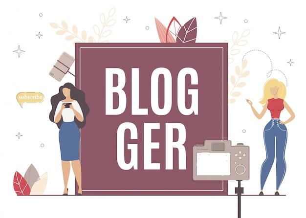 Blogger-uiterlijk voor ander abonneetype. Premium Vector