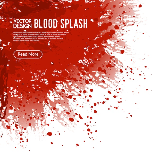 Blood splash background webpagina ontwerp poster Gratis Vector