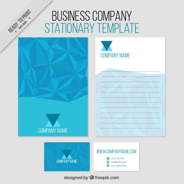 Blue abstract zakelijke briefpapier template Gratis Vector