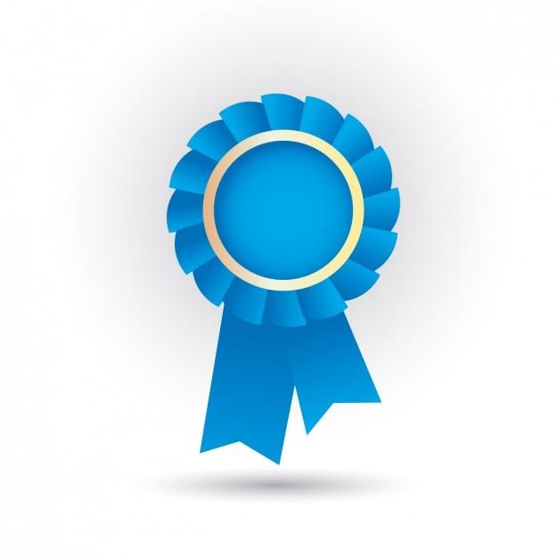 Blue ribbon icon Gratis Vector