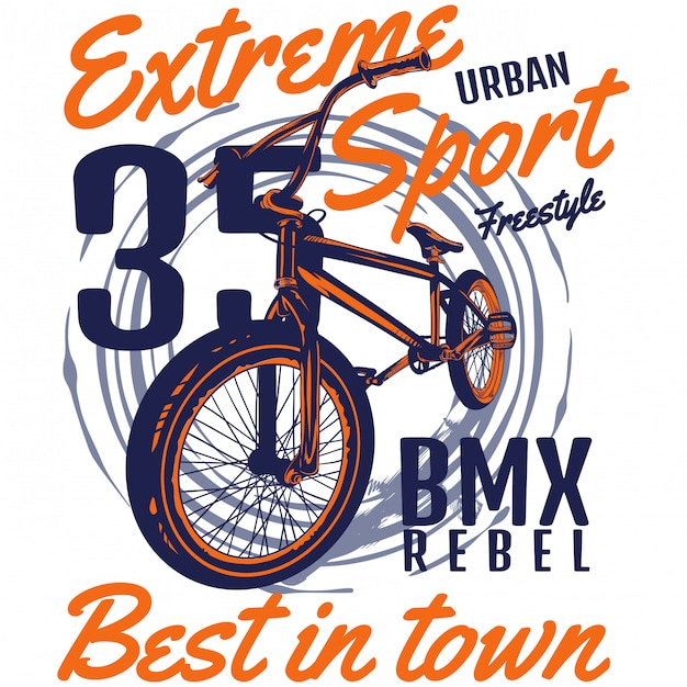 Bmx rebel Premium Vector