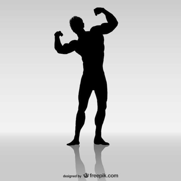 Bodybuilding vector Gratis Vector