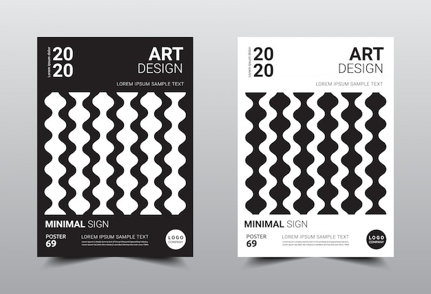 Boek creatieve minimale ontwerpsjabloon. Premium Vector