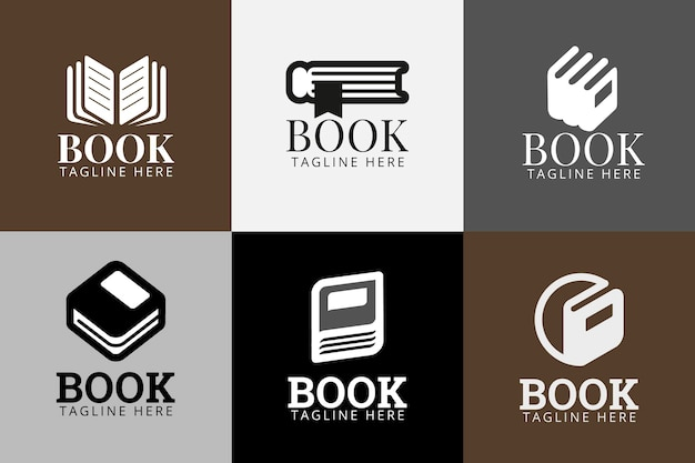 Boek logo sjabloonpakket Gratis Vector