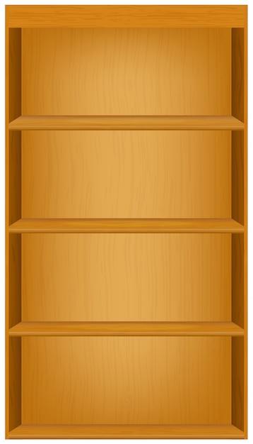 Boekenplanken Premium Vector