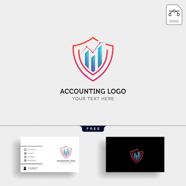 Boekhoudkundige, financiële creatieve logo sjabloon Premium Vector