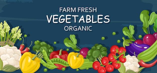 Boerderij verse groenten Premium Vector