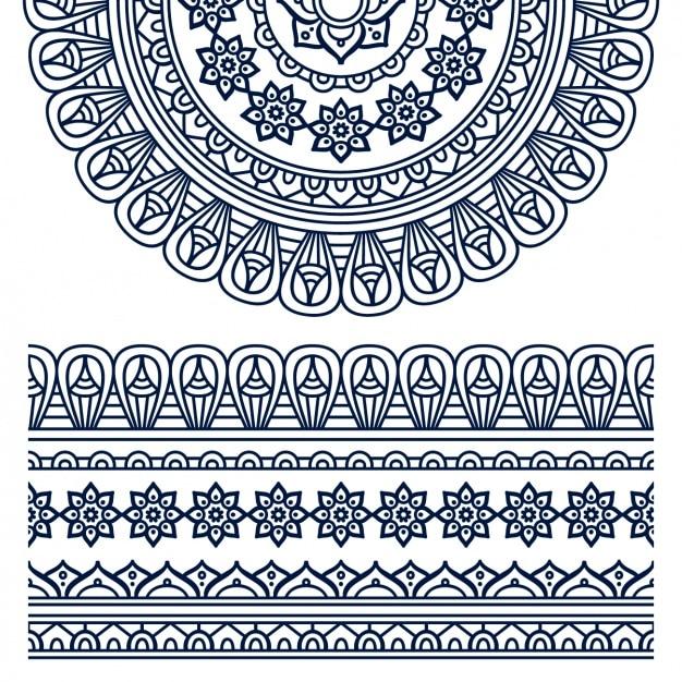 Boho stijl ornament design Gratis Vector