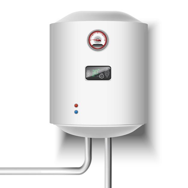 Boiler op wit Premium Vector