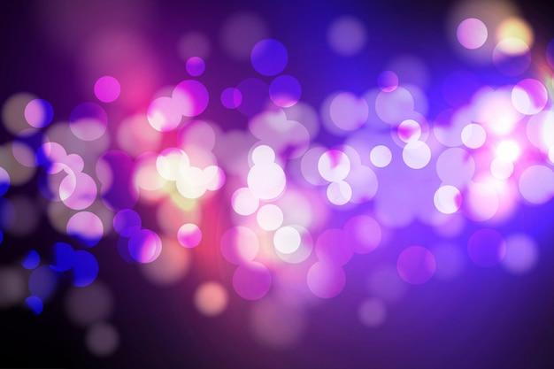 Bokeh lichten en glitter achtergrond Premium Vector