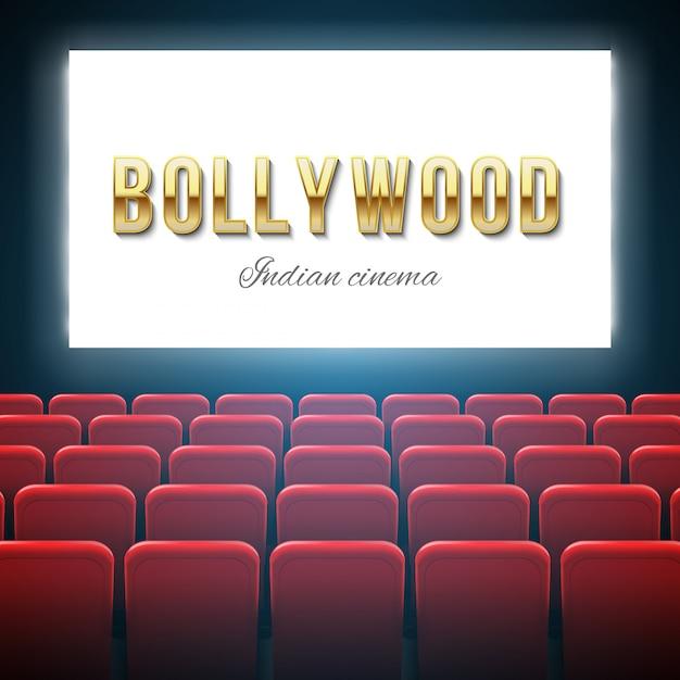 Bollywood-bioscoop, indiase film, cinematografie. Premium Vector