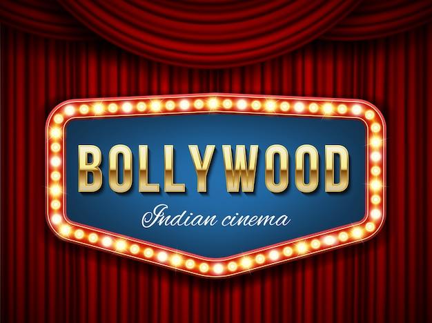 Bollywood-bioscoop Premium Vector