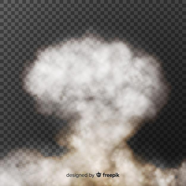 Bomb rook effect realistisch ontwerp Gratis Vector